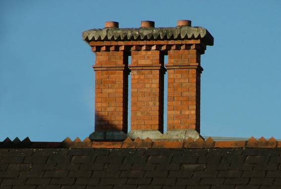 image of brick chimney stacks